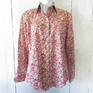 Maus & Hoffman Liberty Fabric Top Floral Button Up
